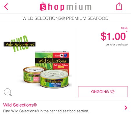 wild selections tuna coupon