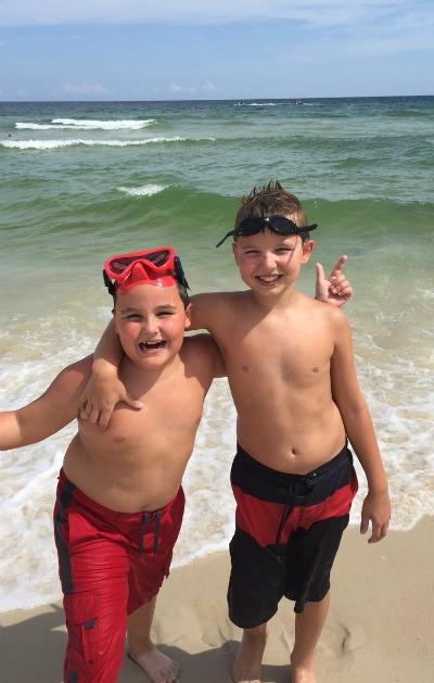 boys at beach
