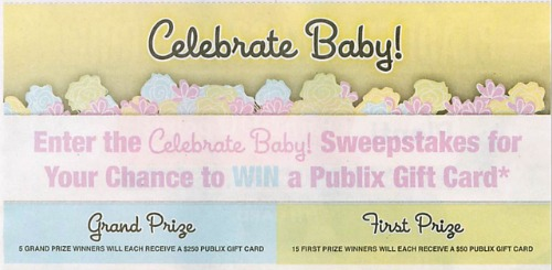 celebrate baby sweepstakes