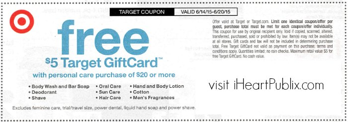 target coupon personal care