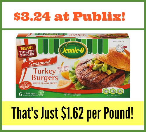 Jennie-o Turkey Burgers Publix