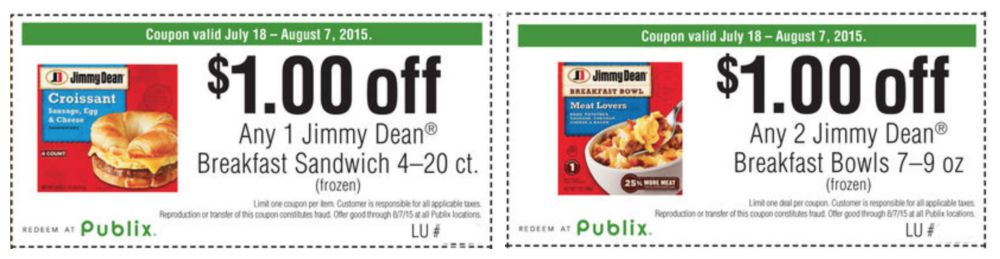 Jimmy Dean Coupons Publix
