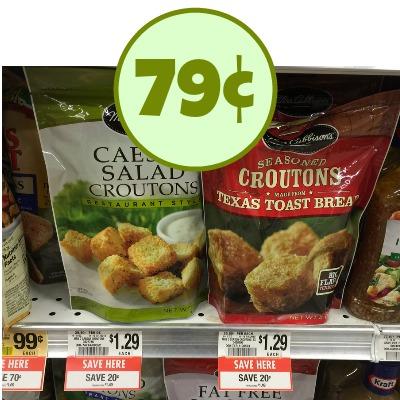 Mrs. Cubbison's Croutons 79¢ At Publix