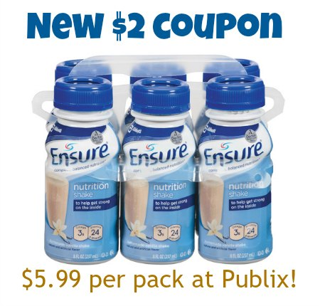 Always check for a discount before you buy Ensure! You can save up to $3 off a single product with our coupons, or sign up for the email list to get $3 off instantly. In addition, Ensure will send you other money-saving offers throughout the year. Look for low prices on Ensure .
