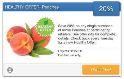 healthy peaches