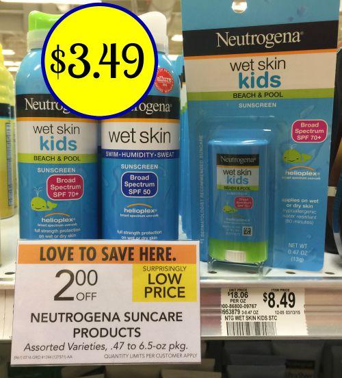 Neutrogena Suncare - Big Discount At Publix