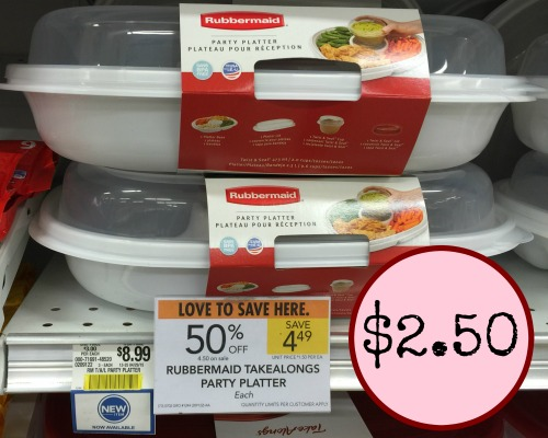 rubbermaid party platter
