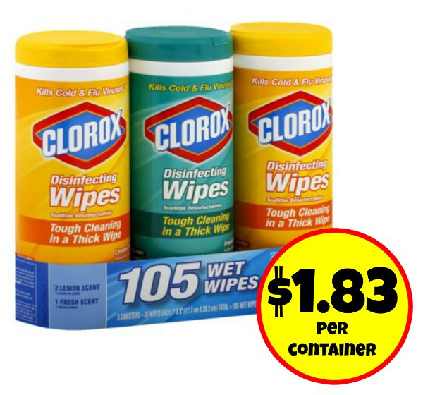 Clorox disinfecting wipes coupons