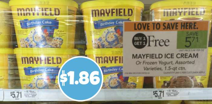 I Found Mayfield Ice Cream BOGO Again Today If You Havent Already Printed Your Coupon Grab It And Get Cheap With The Upcoming Sale