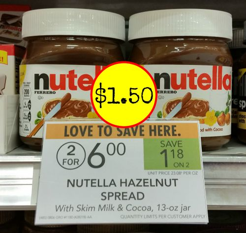 picture regarding Nutella Printable Coupon referred to as nutella coupon, I Centre Publix