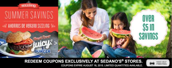 sedano's coupons