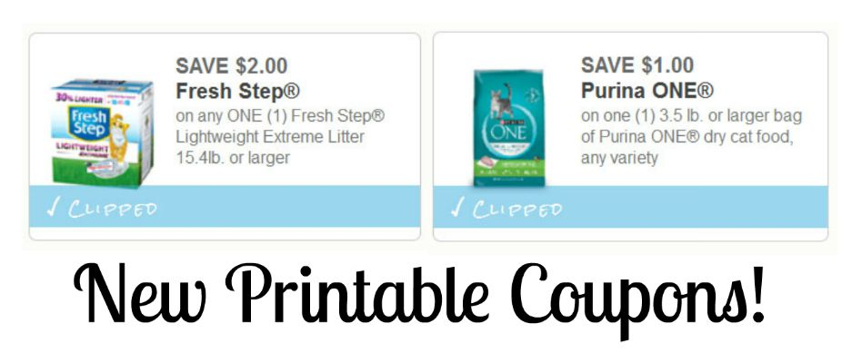 photo about Fresh Step Printable Coupon referred to as Clean Cat Meals Clutter Discount coupons - Clean Move Purina 1!