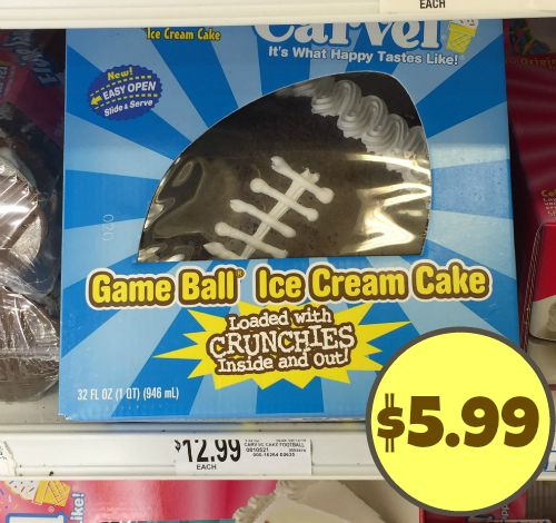 game ball cake carvel publix