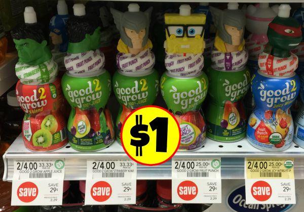 good 2 grow juice bottles just  1 at publix