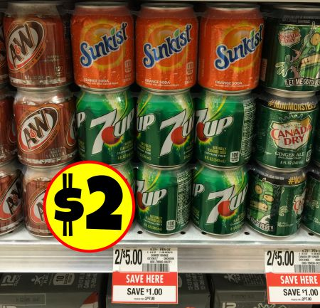 sunkist, 7up, A&W, canada dry