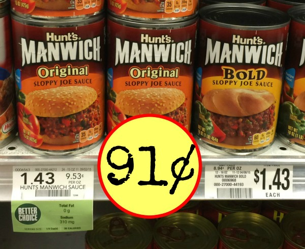 Hunt's Coupon | Free Can Of Manwich! :: Southern Savers