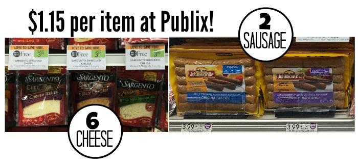 cheese-sausage deal publix