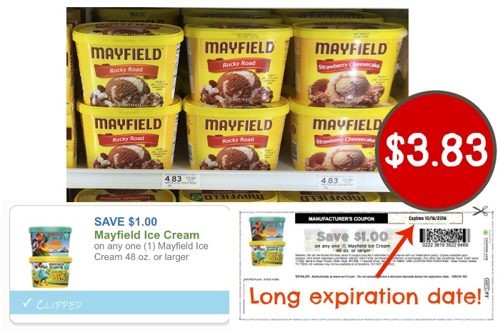 Mayfield Ice Cream coupon, I Heart Publix