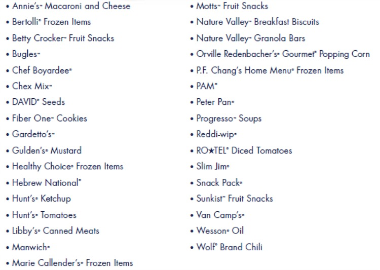 participating items