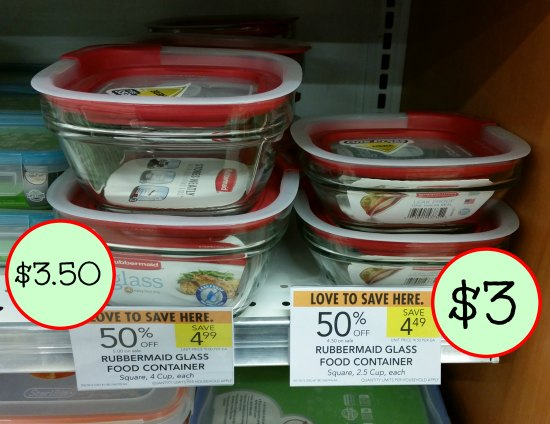 Rubbermaid Glass Food Containers Sale As Low As 3 At Publix