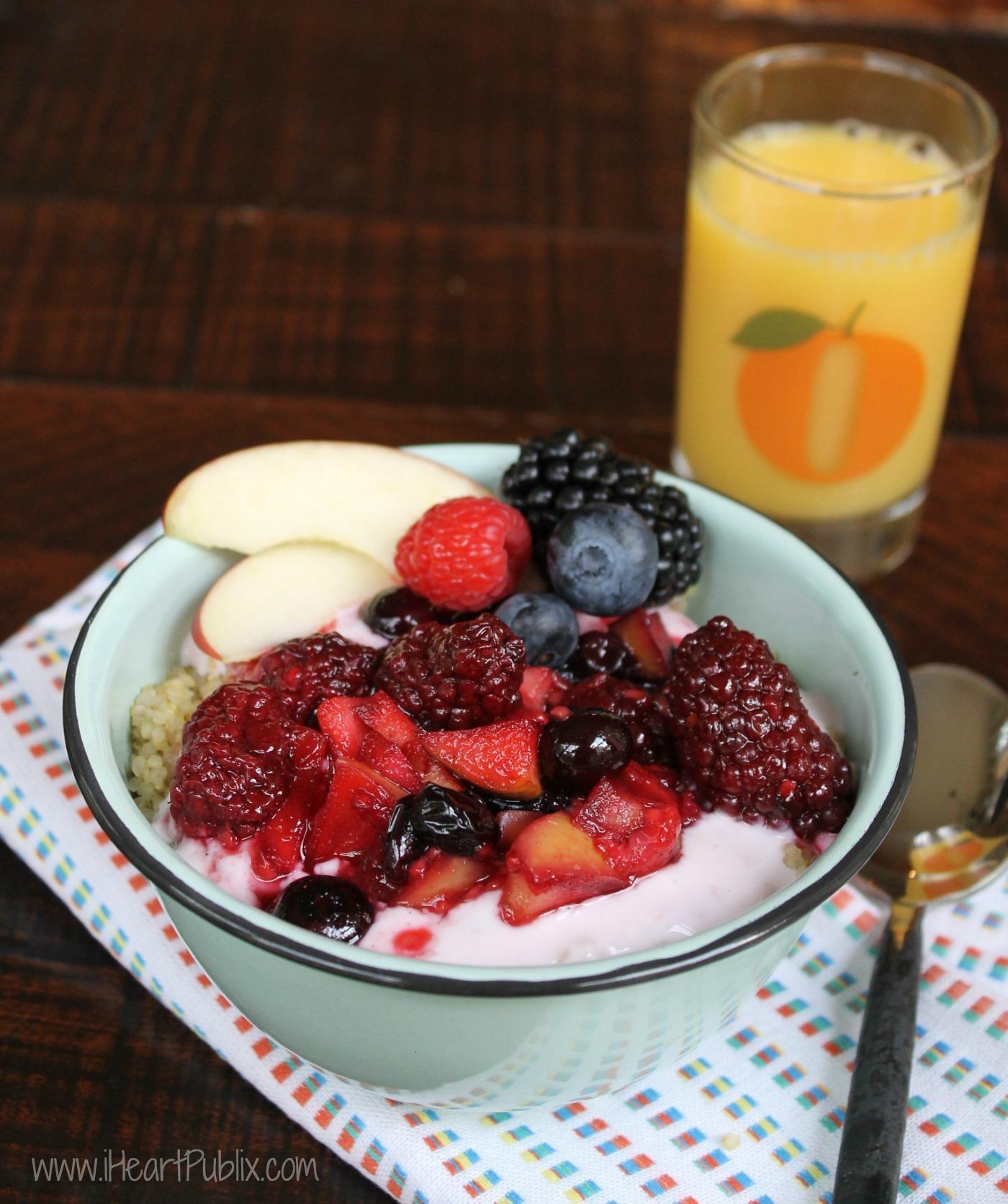 Apple & Berry Quinoa Crisp Bowl Recipe