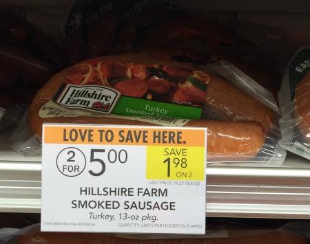 Hillshire farms smoked sausage