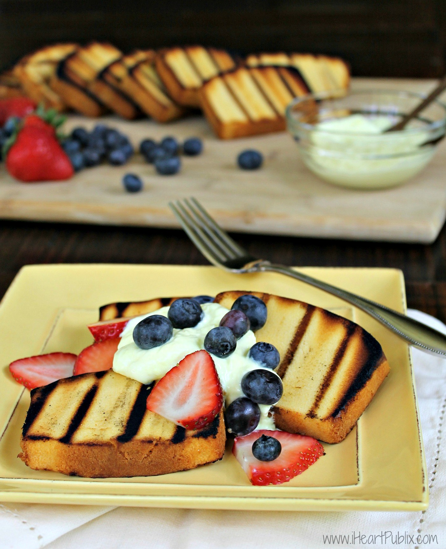 Sara Lee's Grilled Pound Cake and Mixed Berries