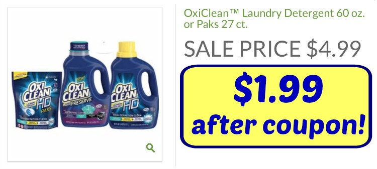 Big 3 Oxiclean Laundry Detergent Coupon Just 1 99 At