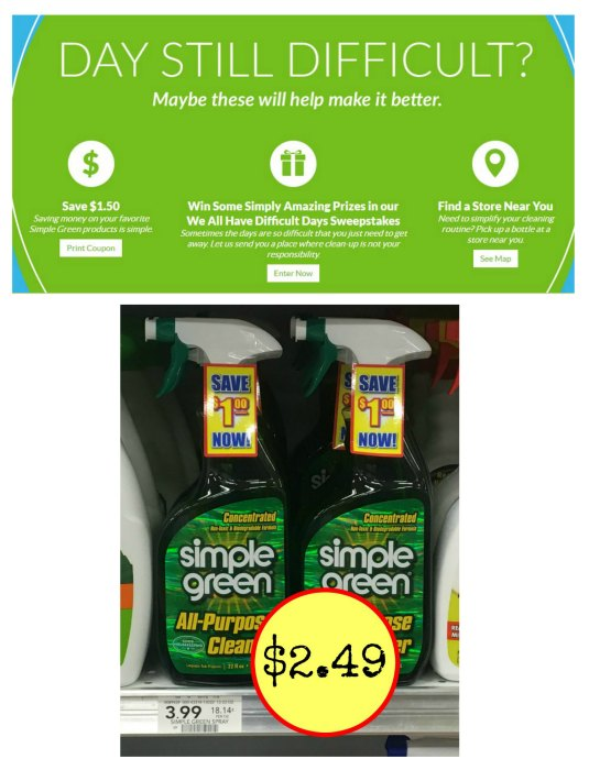 Coupons for simple green products