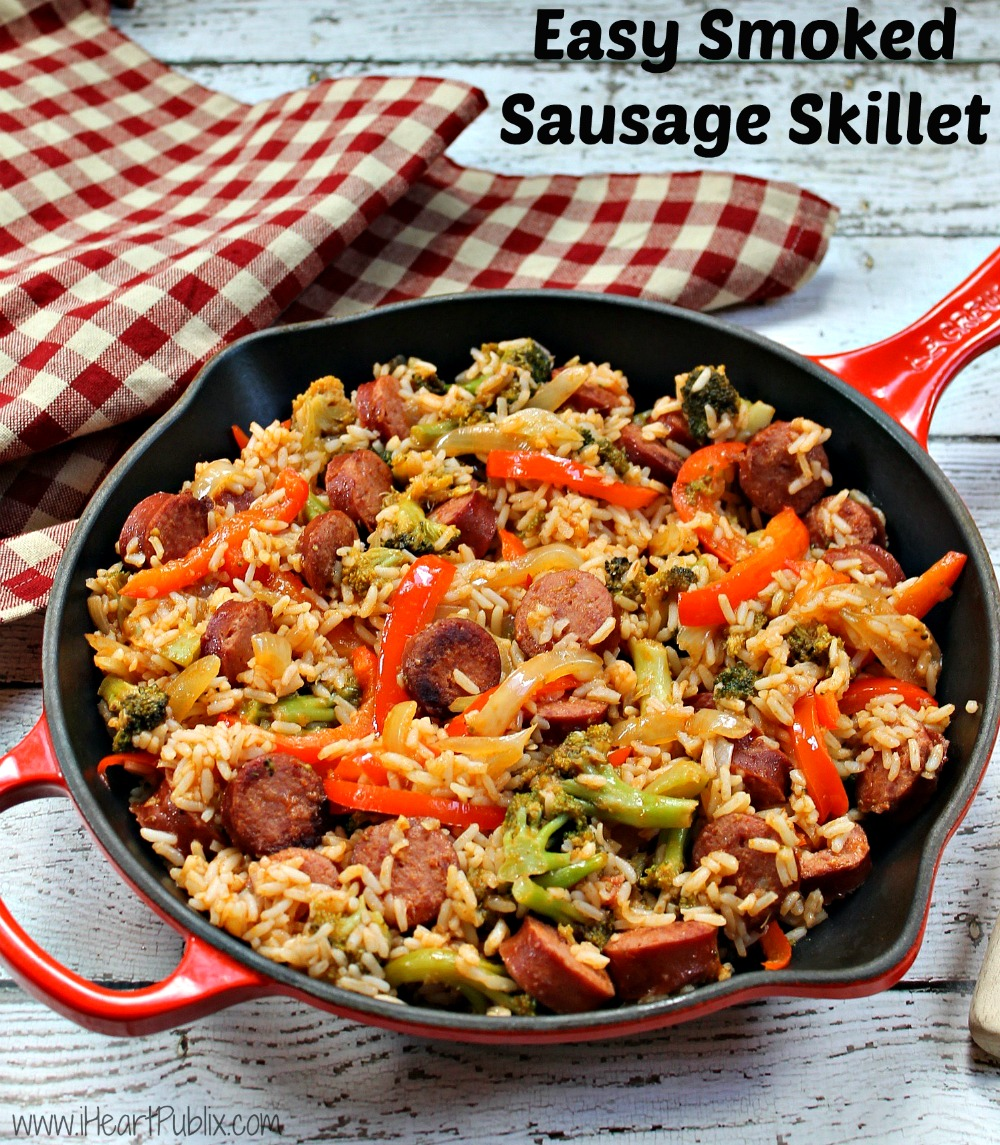 Easy Smoked Sausage Skillet Recipe Quick Convenient A Super Price When You Shop At Publix