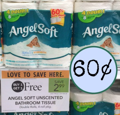 photo relating to Angel Soft Printable Coupon named Angel Tender Bathroom Paper - 4 Double Rolls Merely 60¢ At Publix!