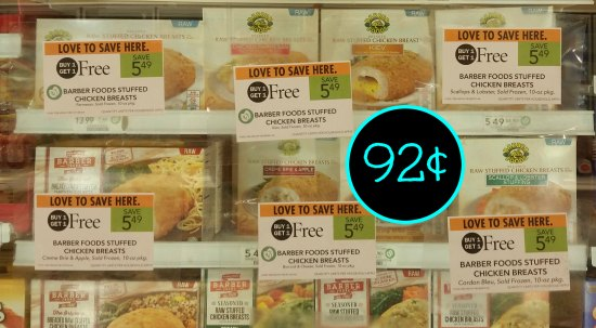New Barber Foods Coupons For Publix BOGO - Stuffed Chicken
