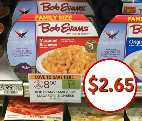Bob evans discount coupons