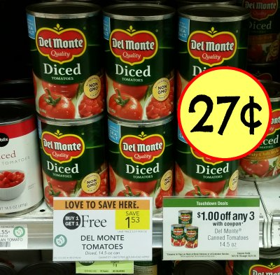 Del Monte Canned Tomatoes Just 27 At Publix