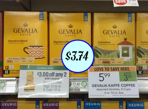 picture relating to Gevalia Printable Coupon called Gevalia Kaffe Espresso Coupon, I Middle Publix