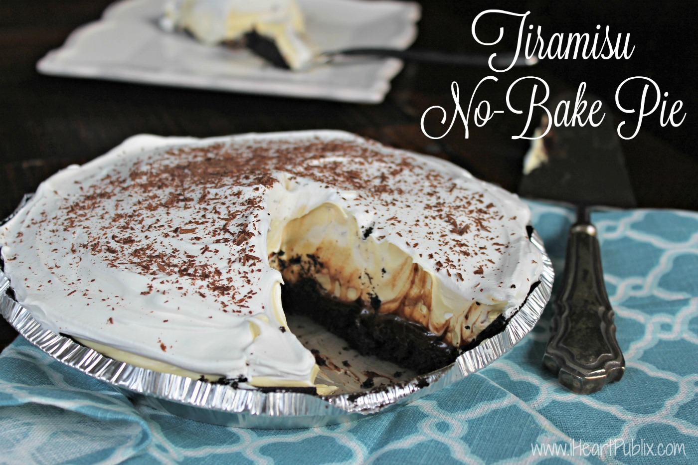 Publix white apron recipes - Tiramisu No Bake Pie