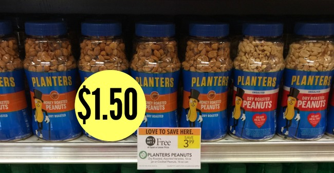 We have a couple of new Planters coupons that popped up today. Remember Planters  nuts are on sale in the current AND upcoming ad. - New Planters Coupons - Peanuts Just $1.50 At Publix