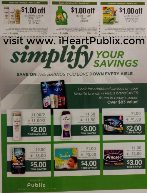 "Publix ""Simplify Your Savings"" Coupon Sheet In 2/26 Inserts"