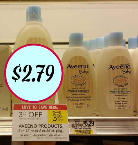 Aveeno Baby Products Included In Publix Sale - As Low As $2.79