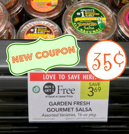 New Garden Fresh Gourmet Salsa Coupons For The Publix BOGO Sale ...
