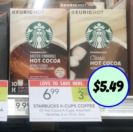 Starbucks Coffee Or Hot Cocoa K Cups Just 5 49 At Publix