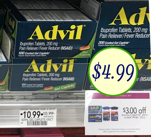 graphic about Advil Coupons Printable named Advil Soreness Reliever About 50 % Off At Publix