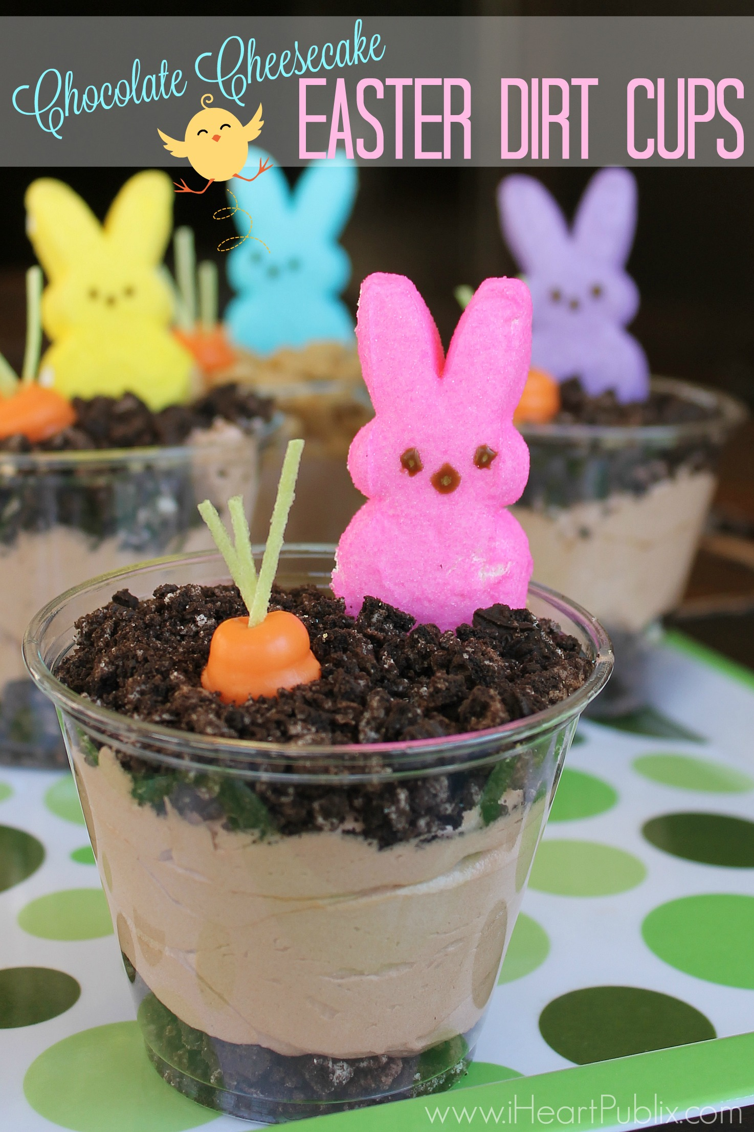 Chocolate Cheesecake Easter Dirt Cups