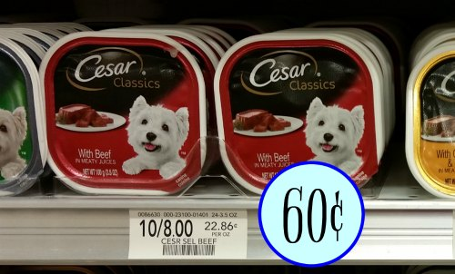 graphic about Caesars Dog Food Printable Coupons identify Cesar Moist Pet Foodstuff Coupon codes - Simply 60¢ At Publix