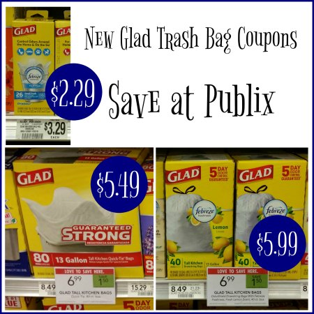 We Have Some New Glad Trash Bag Coupons To Print You Can Use The Pick Up Nice Deals At Publix With Our Cur