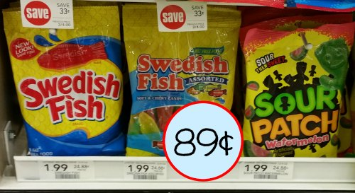 Swedish fish or sour patch kids soft chewy candy just for Sour swedish fish