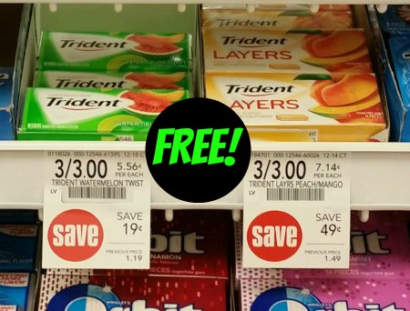 Trident Gum Coupon Cash Back For The Publix Sale Get Three Packs Free