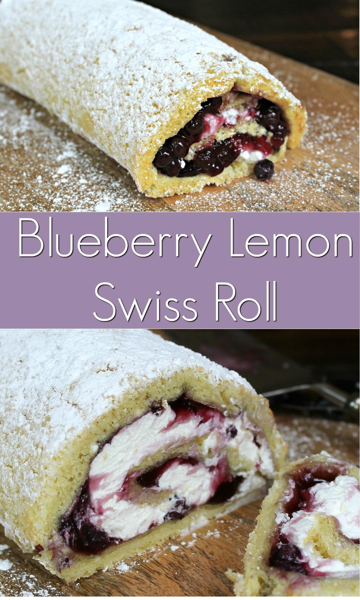 Blueberry Lemon Swiss Roll