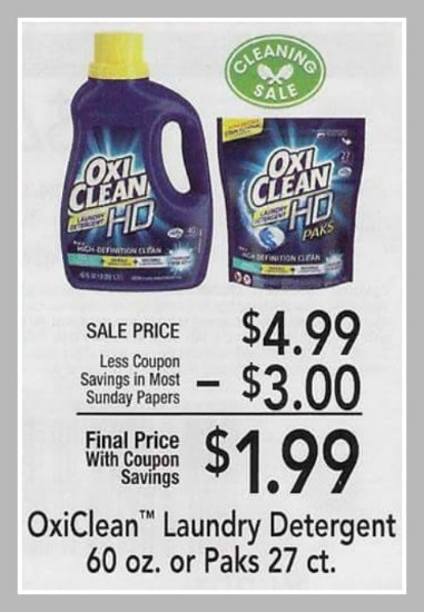 picture regarding Oxiclean Printable Coupon known as Large $3 OxiClean Laundry Detergent Printable Coupon - Accurately