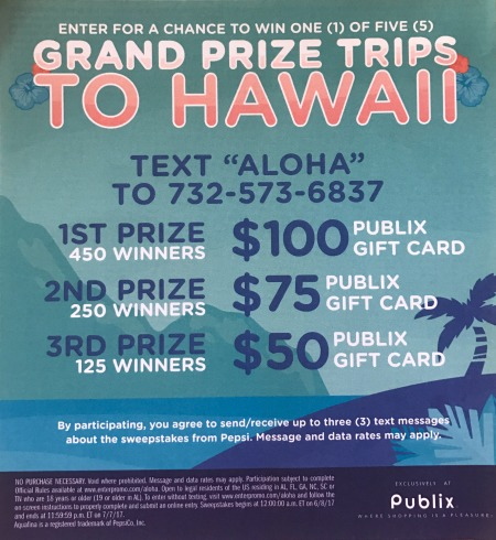 New Sweepstakes For Publix Shoppers - Win A Trip To Hawaii!